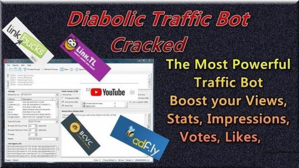 Diabolic Traffic Bot v6.2.2 Full - программа для накрутки трафика